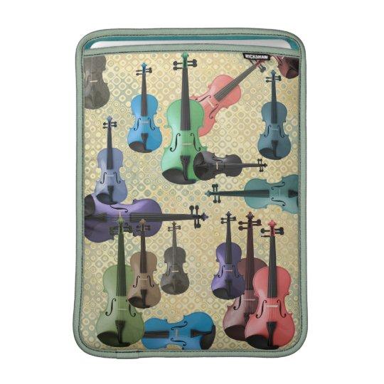 Multicolored Violin Wallpaper MacBook Sleeve