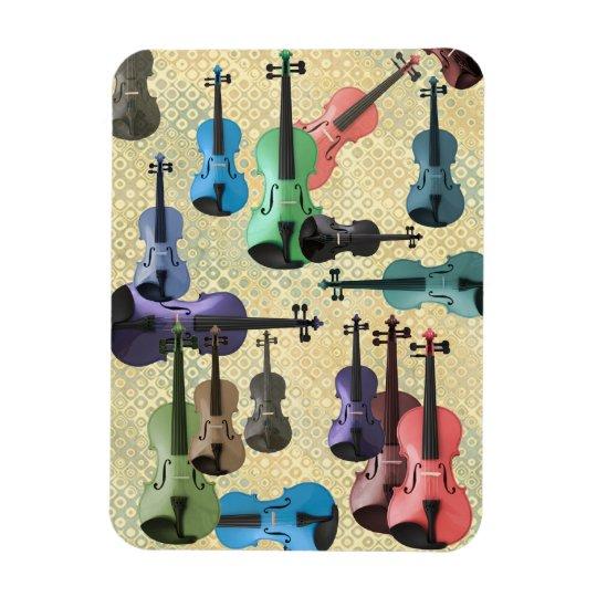 Multicolored Violin Wallpaper Magnet