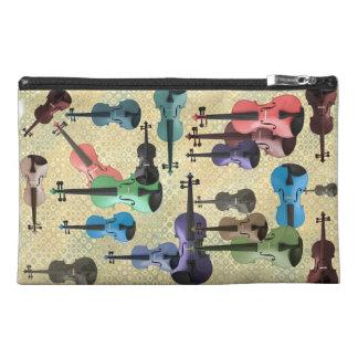 Multicolored Violin Wallpaper Travel Accessories Bags