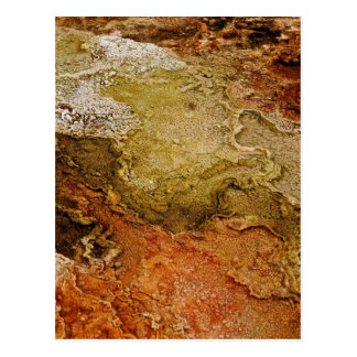 MULTICOLORED VOLCANIC MINERAL DEPOSITS POSTCARD