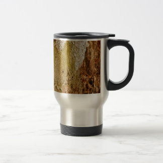 MULTICOLORED VOLCANIC MINERAL DEPOSITS TRAVEL MUG
