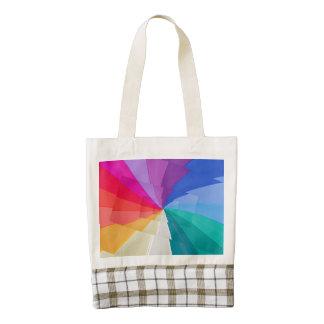 multicolored vortices  on  Zazzle HEART Tote bag