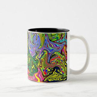 Multicolored Warp Coffee Mug