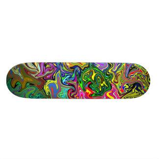 Multicolored Warp Skateboard