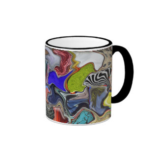 Multicolored Warped Designed Mug