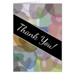 [ Thumbnail: Multicolored Watercolor Look Blob Pattern Card ]