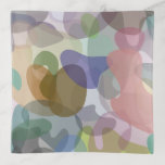 [ Thumbnail: Multicolored Watercolor Look Blob Pattern Tray ]