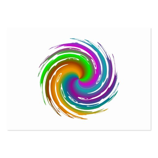 Multicolored wave business cards