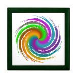 Multicolored wave keepsake box