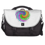 Multicolored wave laptop bag