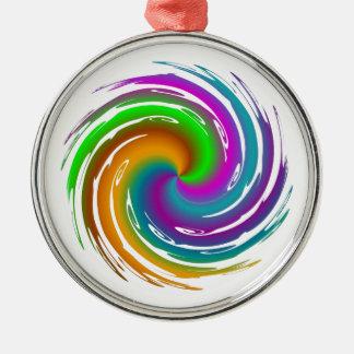 Multicolored wave metal ornament