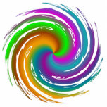 Multicolored wave photo cutout