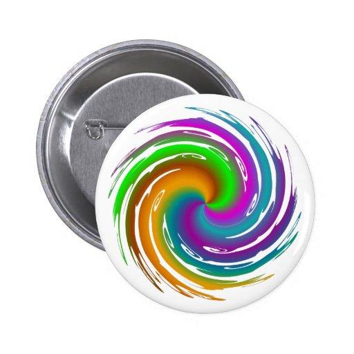 Multicolored wave pin redondo 5 cm