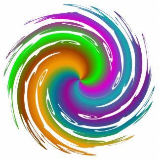 Multicolored wave statuette
