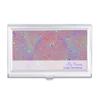 Multicolored whimsical abstract custom case for business cards