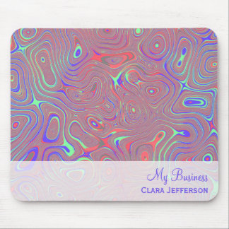 Multicolored whimsical abstract custom mouse pad