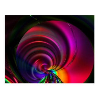 Multicolored whirl created by Tutti Postcard