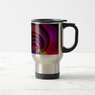 Multicolored whirl created by Tutti Travel Mug