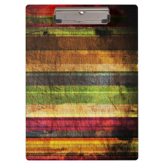 Multicolored Wood Pattern Clipboard