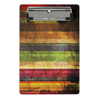 Multicolored Wood Pattern Mini Clipboard