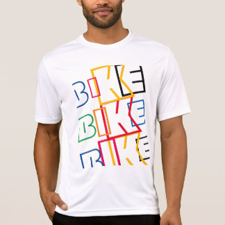 multicolored word BIKE T-Shirt