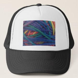 Multicolored Yarn Trucker Hat