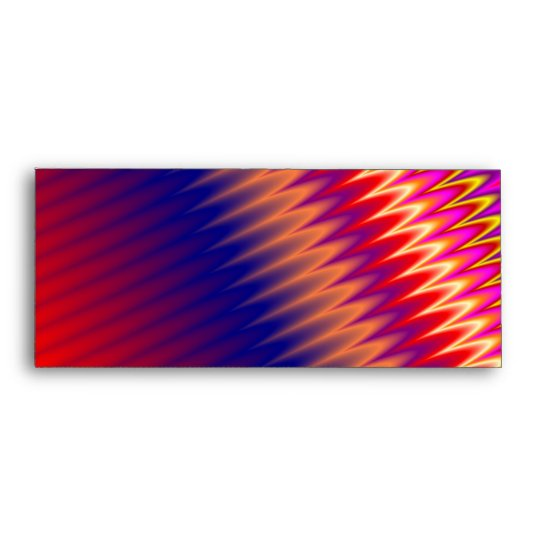 Multicolored zizzag waves background envelope
