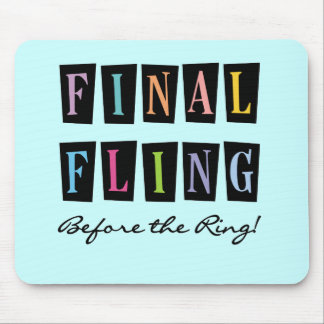 Multicolors Fling Before the Ring T-shirts Mouse Pads