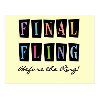 Multicolors Fling Before the Ring T-shirts Postcard