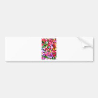 Multicolors flowers bumper sticker
