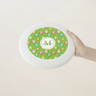 MulticolorWise Owls Pattern | Personalizable gifts Wham-O Frisbee