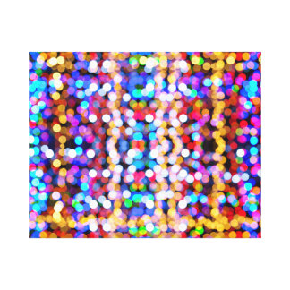Multicolour Bokeh Canvas Print