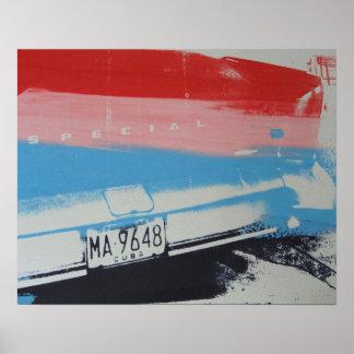 Multicolour fender poster
