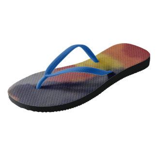 Multicolour flip flops