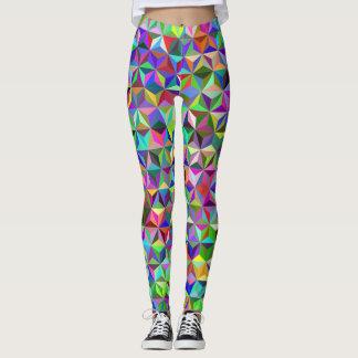 Multicolour Funky Repeating Pattern Leggings