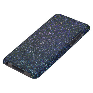 Multicolour Glitter Effect in blue and purple Barely There iPod Case