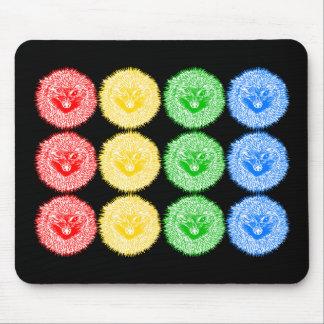 Multicolour Hedgehogs Mouse Pad