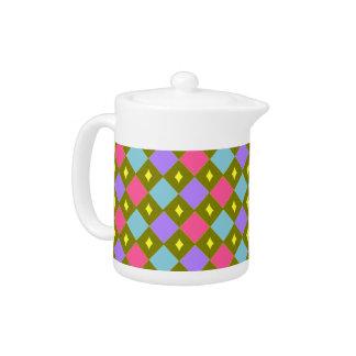 Multicolour Honeycomb You Create Teapot