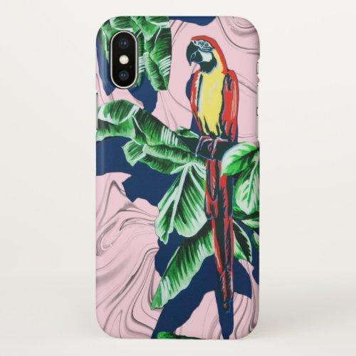multicolour Macaw iPhone case