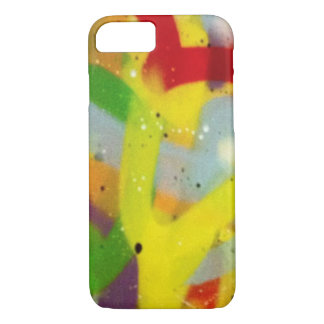Multicolour spray paint iPhone 8/7 case