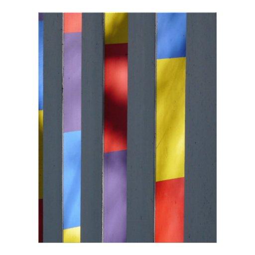 Multicolour Striped Artistic Cloth Letterhead Design