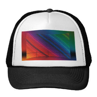 Multicolour Transition With Grid Mesh Hats