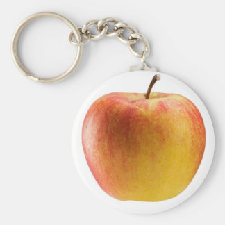 Multicoloured apple basic round button keychain