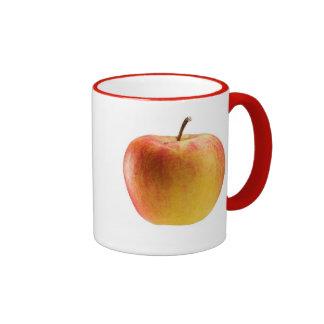 Multicoloured apple ringer coffee mug