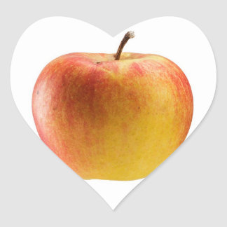 Multicoloured apple heart sticker
