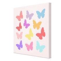 Multicoloured Butterflies Design Canvas Print