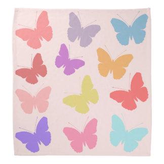 Multicoloured Butterflies Design Bandana