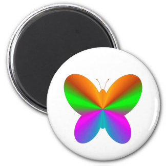 Multicoloured butterfly 2 inch round magnet