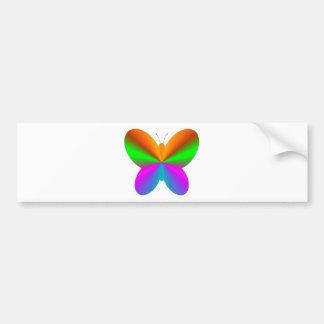 Multicoloured butterfly bumper sticker