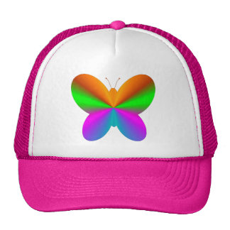 Multicoloured butterfly mesh hats